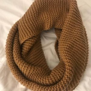 Brown knit BP infinity knit scarf from Nordstrom.